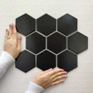 Hexagon Matt Black